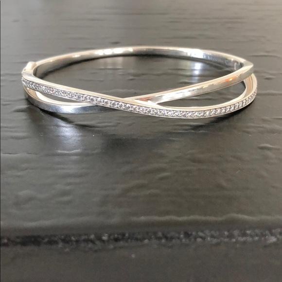 fbe9b1222 Pandora Entwined Bangle Bracelet with Clear CZ. M_5b22ba6f9fe48628625c8cc2